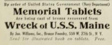 USS maine tablet ad
