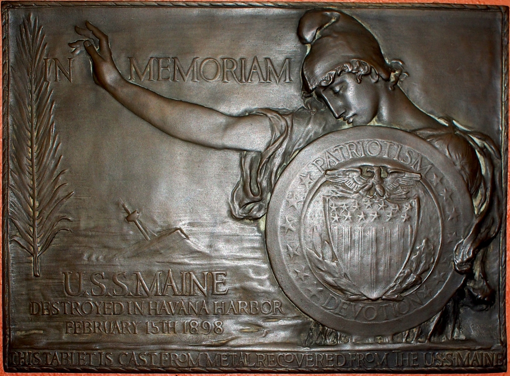 USS Maine Plaque