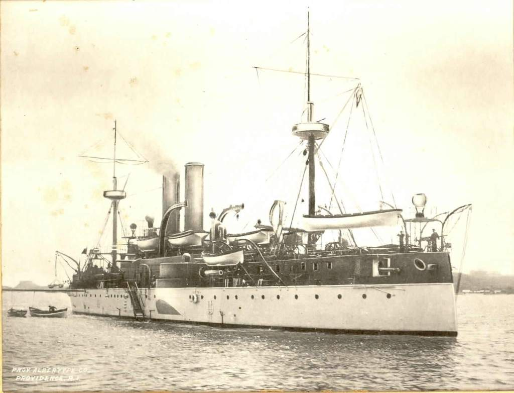 The USS Maine in Havana harbour