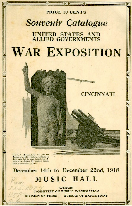 Program from the Allied War Exposition. http://freedomcenter.org/cincinnati-soldiers